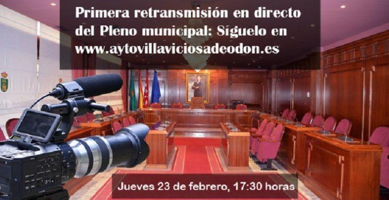 Los plenos municipales, a partir de hoy, se podrán ver vía streaming