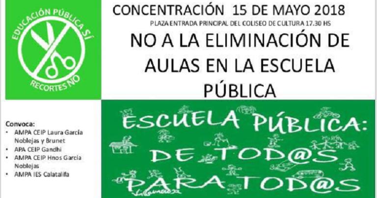 San Isidro también reivindicativo: concentración para la no eliminación de un aula en el Laura García Noblejas