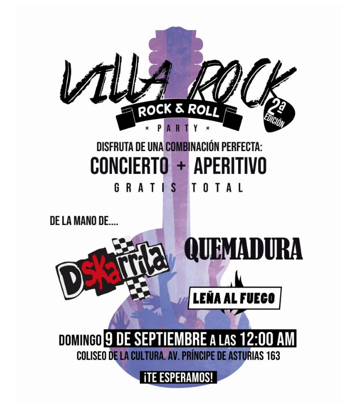 Este domingo se celebra la segunda edición del Festival Villa Rock