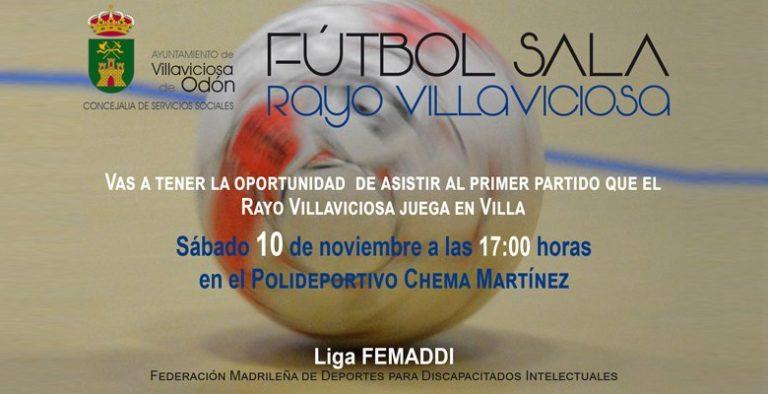 El Rayo Villaviciosa disputa este sábado su primer partido de la Liga de Fútbol Sala de la Federación Madrileña de Deportes para Discapacitados Intelectuales