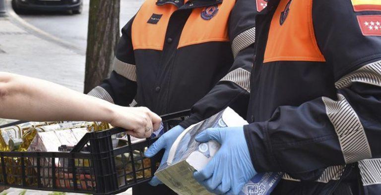 Comienza el reparto de alimentos a cargo de Protección Civil Villaviciosa