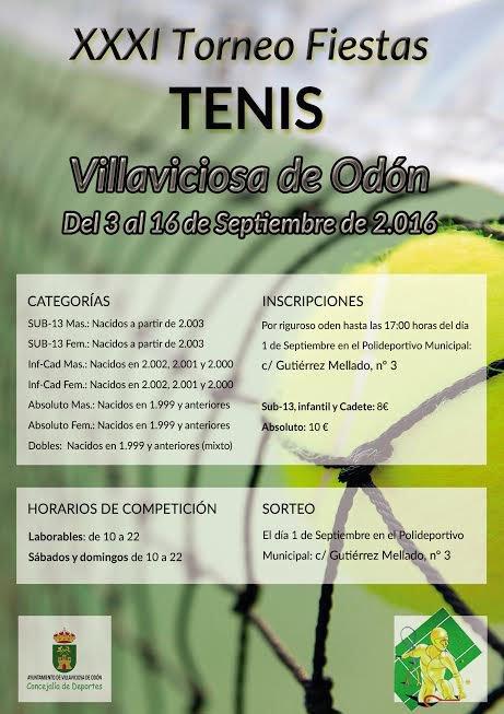 Torneo de tenis Fiestas Villaviciosa 2016
