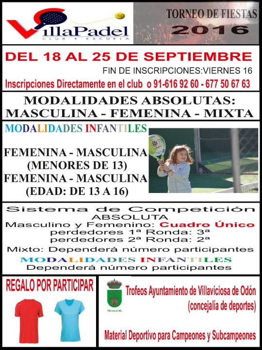 Torneo Fiestas Villaviciosa 2016